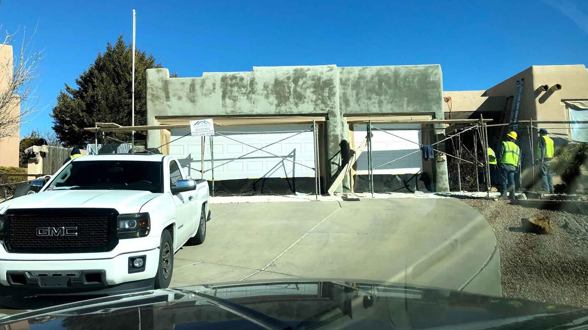 Image of stucco repair